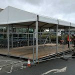 Marquee rigging outside a supermarket - midway (2018)