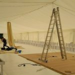 Wedding marquee riggers