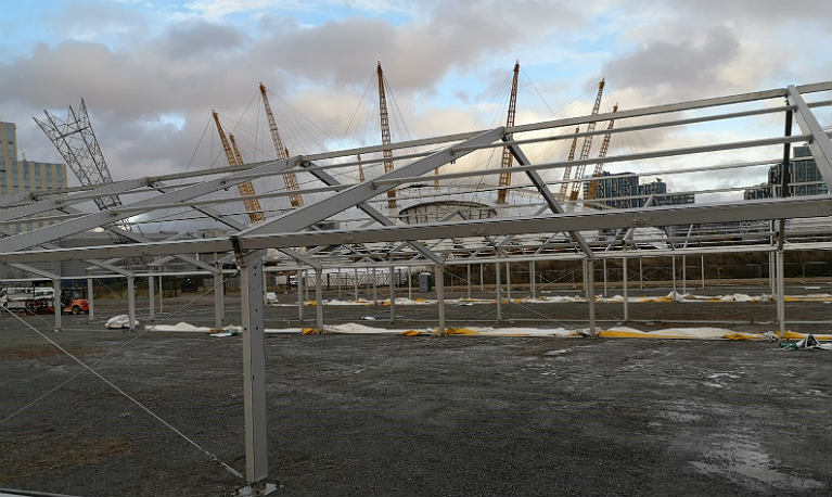 Marquees built in one day!
